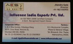 INFLUENCE INDIA EXPORTS PVT LTD