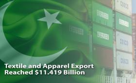 Pakistan's Textile and Apparel Export reach $11.419 Billion