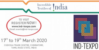Texprocil India's Reverse Buyer-Seller Meet `Ind-Texpo 2020' to be held from 17 - 19 March 2020